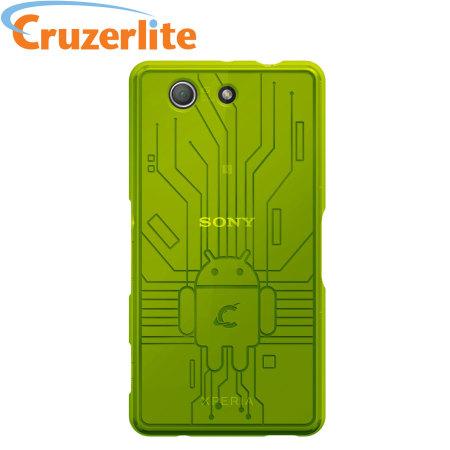 wholesale dealer ff2f1 74dbe Cruzerlite Bugdroid Circuit Sony Xperia Z3 Compact Case - Green