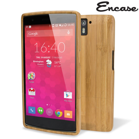 new arrival 54369 ec2a8 Encase Deluxe OnePlus One Bamboo Hard Case