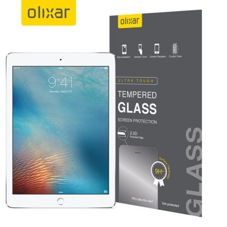 Olixar iPad 9.7 2017 / iPad Air 2 Tempered Glass Screen Protector