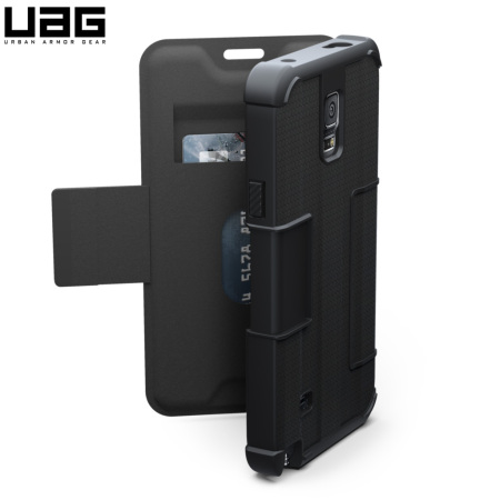 new concept 5c1a3 db613 UAG Scout Folio Samsung Galaxy Note 4 Protective Wallet Case - Black