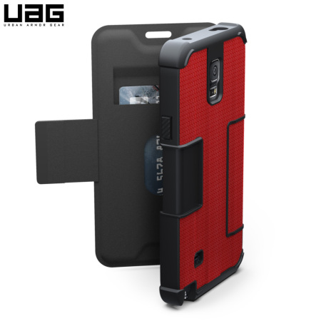 UAG Rogue Folio Samsung Galaxy Note 4 Protective Wallet Case - Red