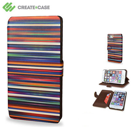 Create and Case iPhone 6S Plus / 6 Plus Book Stand Case - Blurry Lines
