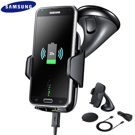 samsung qi wireless charging car holder and charger. Black Bedroom Furniture Sets. Home Design Ideas