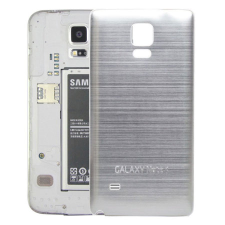 sports shoes ec47b 0dca2 Metal Samsung Galaxy Note 4 Replacement Back Cover - Silver