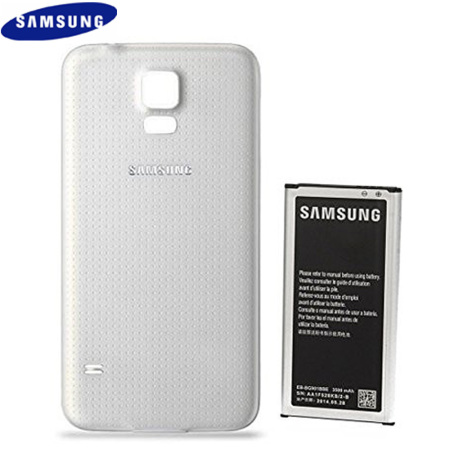Official Samsung Galaxy S5 3500mAh Extended Battery and Cover - White