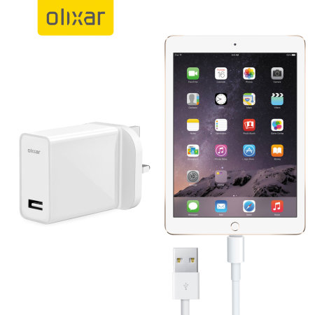 High Power iPad Air 2 Wall Charger & 1m Cable