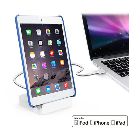 Apple iPad / iPhone Lightning Case Compatible Charging Dock - White