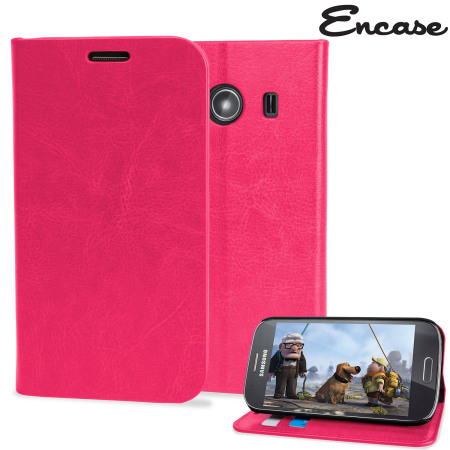 Custodia a portafogli Slim Encase per Samsung Galaxy Ace 4 - Rosa