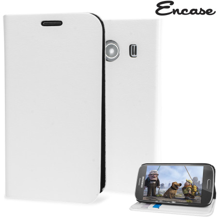 Encase Slim Leather-Style Samsung Galaxy Ace 4 Wallet Case - White