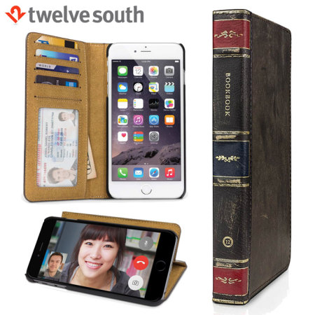 Twelve South BookBook iPhone 6S Plus/ 6 Plus Leather Wallet Case Brown