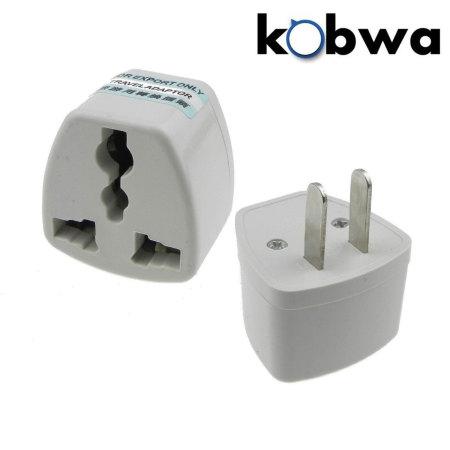 Kobwa UK, EU, AU Multi-pin To US Wall Charger Power Adapter