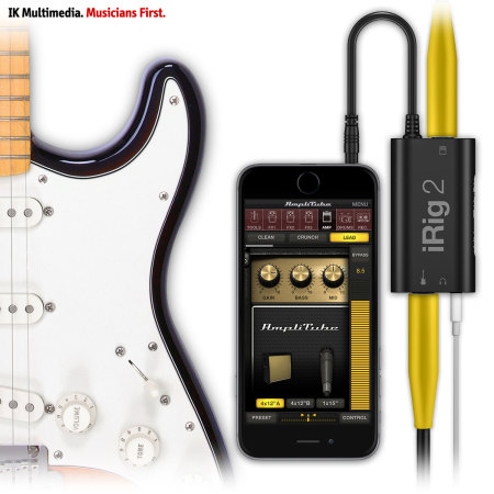 Interface Guitar IK Multimedia iRig 2 pour iOS, Android et Mac
