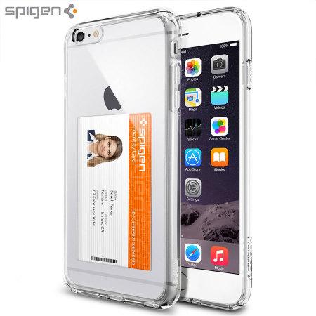 check out d1dbe 35f8d Spigen Ultra Hybrid ID iPhone 6S Plus/6 Plus Bumper Case Crystal Clear