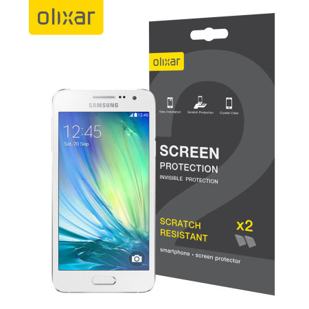 Olixar Samsung Galaxy A3 2015 Screen Protector 2-in-1 Pack