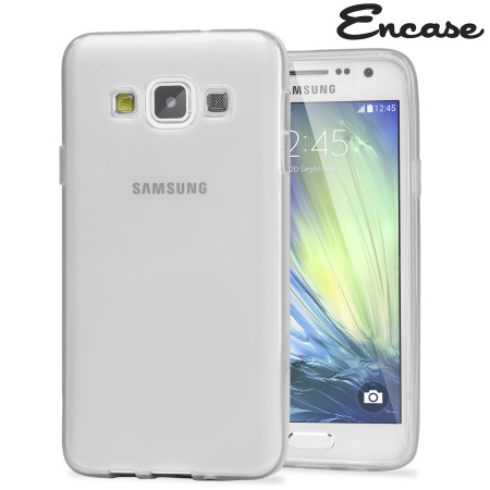 Encase FlexiShield Samsung Galaxy A7 2015 Gel Case - Frost White