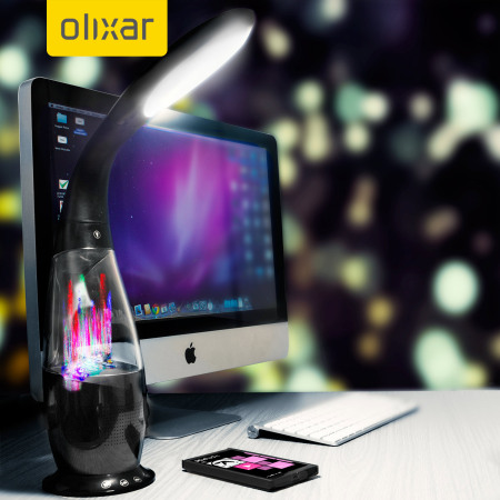 Altavoz Bluetooth Olixar Water Dancing con lámpara LED - Negro