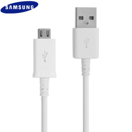 best sneakers 45e85 11762 Official Samsung Micro USB Sync   Charge Cable - White