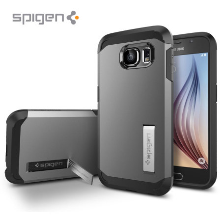 Spigen Tough Armor Samsung Galaxy S6 Case - Gunmetal