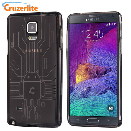 Cruzerlite Bugdroid Circuit Samsung Galaxy Note 4 Case - Smoke Black