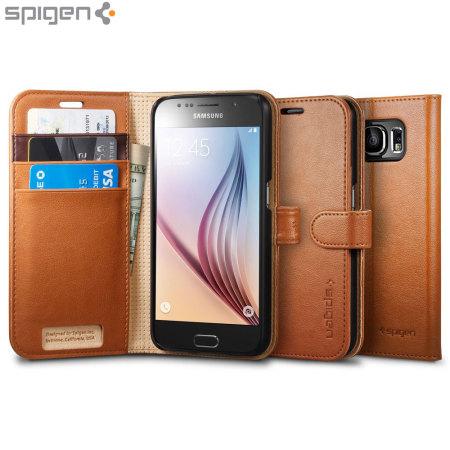 Spigen Samsung Galaxy S6 Wallet S Case - Brown