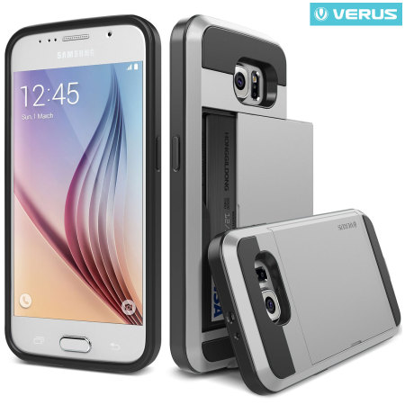 Verus Damda Slide Samsung Galaxy S6 Case - Satin Silver