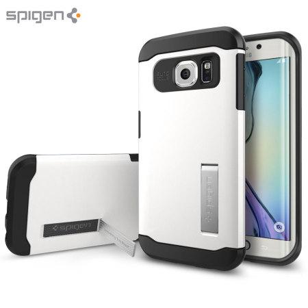 Spigen Slim Armor Samsung Galaxy S6 Edge Case - Shimmery White