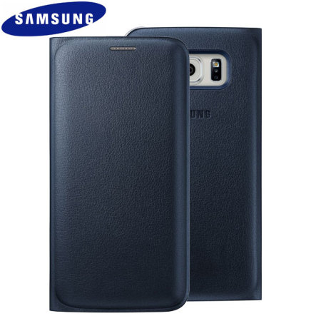 buy popular 02a73 ce0f5 Official Samsung Galaxy S6 Edge Flip Wallet Cover - Blue / Black