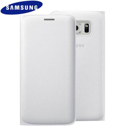 premium selection 69a85 50a95 Official Samsung Galaxy S6 Edge Flip Wallet Cover - White