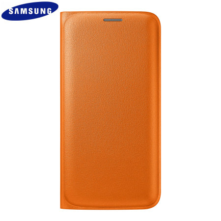 Official Samsung Galaxy S6 Edge Flip Wallet Cover - Orange