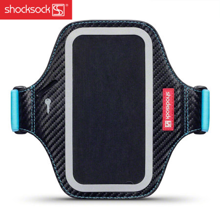 Shocksock Premium Samsung Galaxy S6 Armband - Black / Blue