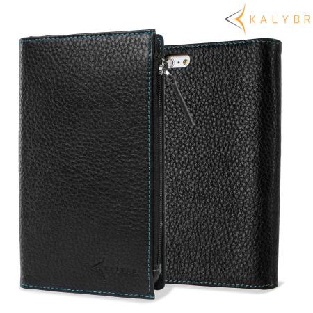 Kalybr Zippa Genuine Leather iPhone 6 Plus Wallet Case ...