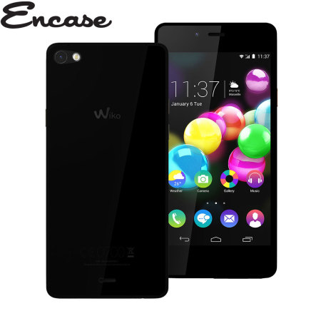Encase FlexiShield Wiko Highway Pure 4G Case - Smoke Black