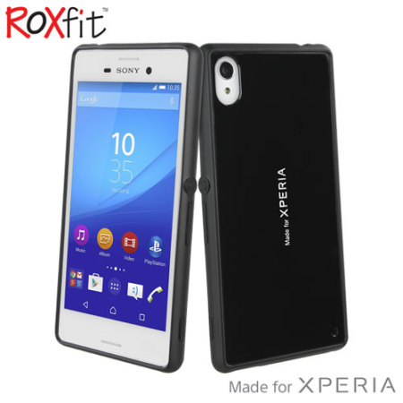 Roxfit Gel Shell Slim Sony Xperia M4 Aqua Case - Black