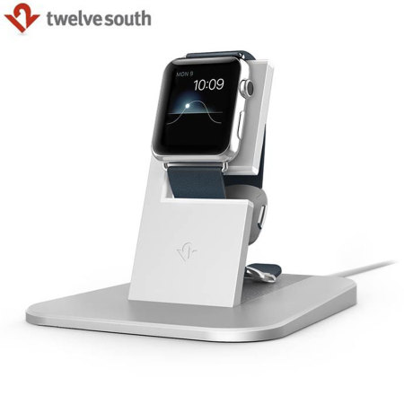 9ce93ce9c7c3cd Twelve South HiRise Apple Watch Charging Stand - Silver