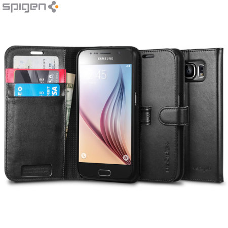 Spigen Samsung Galaxy S6 Wallet S Case - Black
