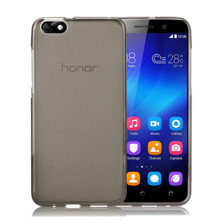 FlexiShield Huawei Honor 4X Gel Case - Smoke Black