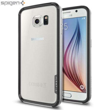 watch 38988 7e304 Spigen Neo Hybrid Ex Samsung Galaxy S6 Bumper Case - Satin Silver
