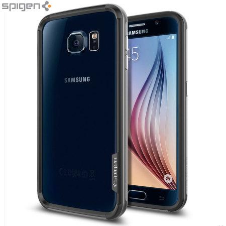 info for f4346 787fe Spigen Neo Hybrid Ex Samsung Galaxy S6 Bumper Case - Gunmetal