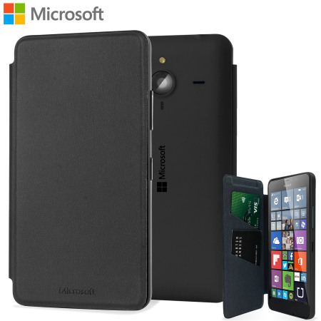 release date 11493 fff6d Official Microsoft Lumia 640 XL Wallet Cover Case - Black