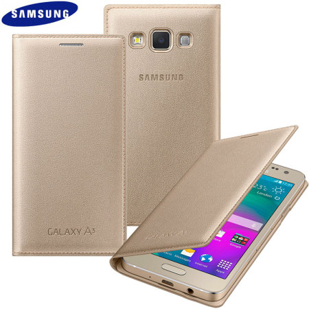 Housse officielle samsung galaxy a3 2015 flip cover or for Housse samsung galaxy a3