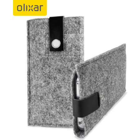 Olixar Wool Felt Pouch for Galaxy S6 / S6 Edge - Charcoal