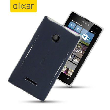 FlexiShield Microsoft Lumia 435 Gel Case - Clear