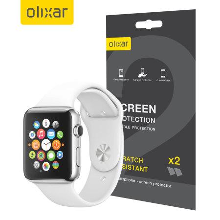 Olixar Apple Watch Series 2 / 1 (38mm) Screen Protector 2-in-1 Pack