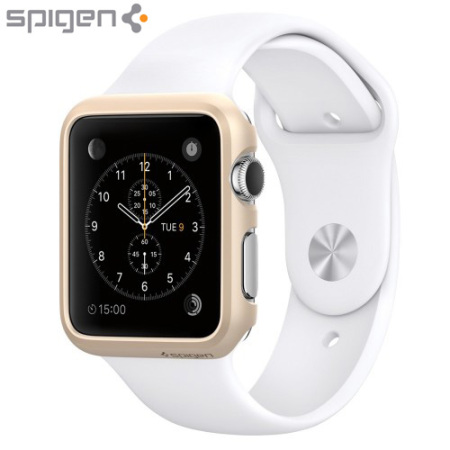 Spigen Thin Fit Apple Watch Series 2 / 1 Case (38mm) - Champagne Gold