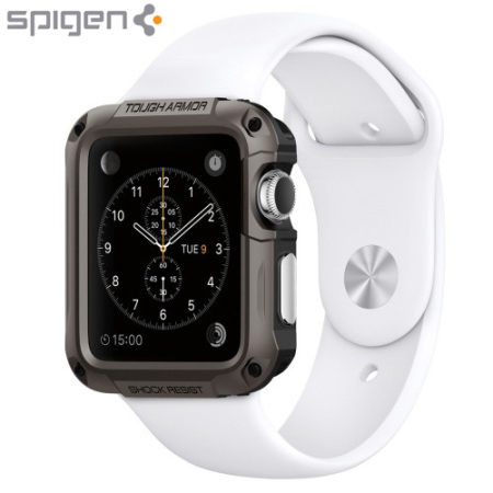 Spigen Tough Armor Apple Watch Series 3 / 2 / 1 Hülle (42mm)-GunMetall