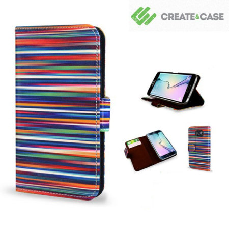 Create and Case Samsung Galaxy S6 Edge Book Case - Blurry Lines