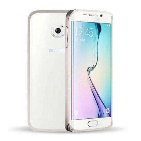 Aluminium Samsung Galaxy S6 Edge Metal Bumper Case - Silver
