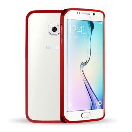 Aluminium Samsung Galaxy S6 Edge Metal Bumper Case - Red