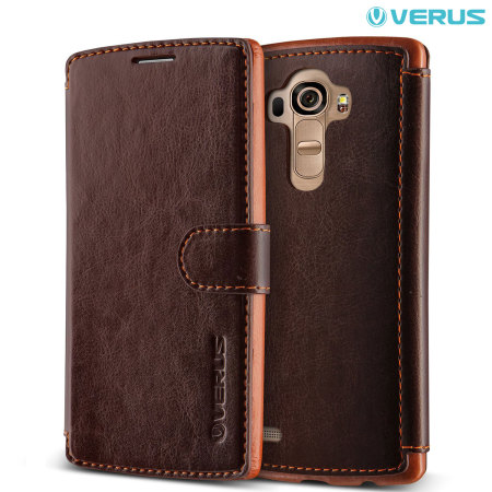 Verus Dandy LG G4 Leather-Style Wallet Case - Brown