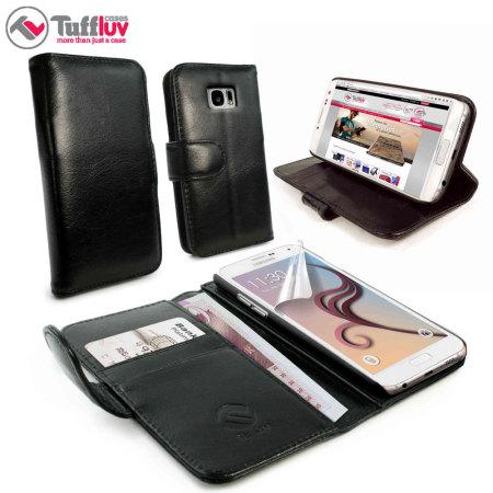 samsung s6 wallet case black